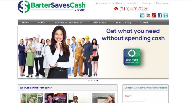click to view www.bartersavescash.com in a new   tab